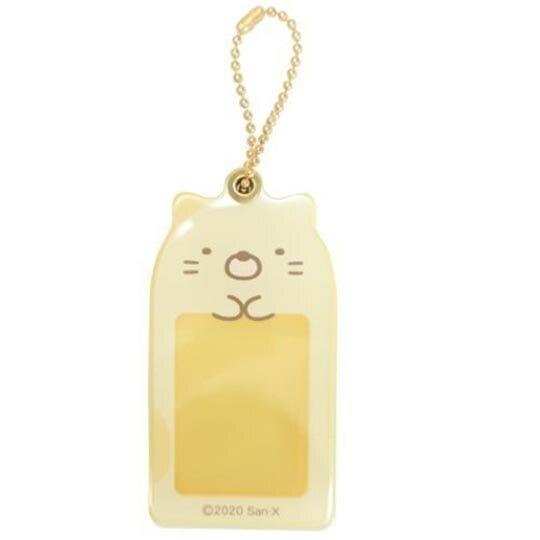 小禮堂 角落生物 貓咪 造型壓克力相片吊飾 相框鑰匙圈 相片吊飾 (黃 大臉) 4548626-12762