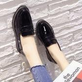 紳士鞋女復古學院牛津百搭顯瘦單鞋繫帶黑色亮面小皮鞋 爾碩數位3c