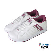 K-swiss Lundahl Slip 白色 皮質 套入 運動休閒鞋 女款 NO.J0471【新竹皇家 96097-148】
