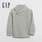 Gap男幼童 紳士風格翻領針織長袖 619188-灰色