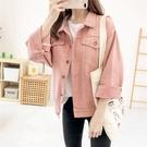 粉色牛仔外套秋款女2020年新款韓版寬鬆BF超火短款流行小清新上衣 安雅家居館