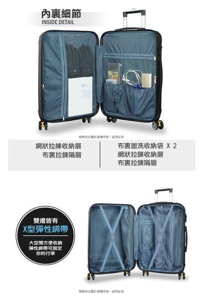 《熊熊先生》24吋行李箱 輕量旅行箱霧面拉桿箱 煞車飛機輪防撞護角TSA鎖 E86 硬殼箱
