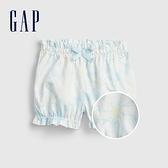 Gap嬰兒 布萊納系列 紮染純棉短褲 682705-藍底印花