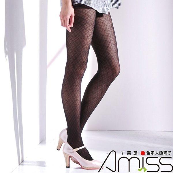 Amiss-襪子團購網♥【A133-60】流行花紋褲襪-十川田花紋