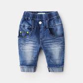 【年終】全館大促純棉牛仔褲夏男童七分褲新款夏裝兒童中褲5牛仔短褲