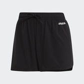Adidas 3-Stripes女款黑色經典三線運動短褲-NO.EI5541