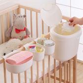 嬰兒床收納盒掛袋尿布台尿不濕整理床邊置物多功能儲物箱籃  IGO