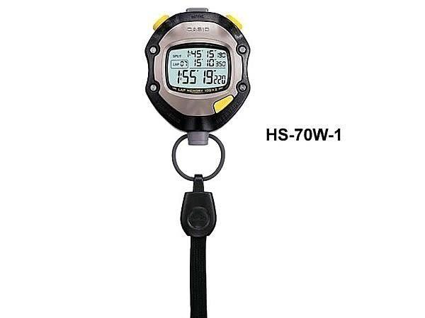 【時間光廊】CASIO 專業碼表 教練專用 1/1000秒馬錶 200筆圈數/分割時間紀錄 HS-70W