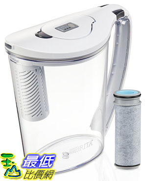 [106美國直購] Brita 10060258362401 濾水壺 10 Cup Stream Filter as You Pour Water Pitcher with 1 Filter