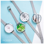 Catworld 潮感印花金屬錶帶手錶【18002810】‧F