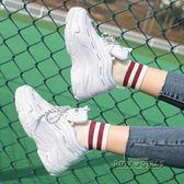 厚底鬆糕鞋女學生跑步舒適休閒原宿風ulzzang運動女鞋