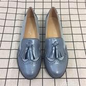 大碼流蘇樂福鞋平跟雕花女鞋學院風復古圓頭淺口單鞋『新年禮物』