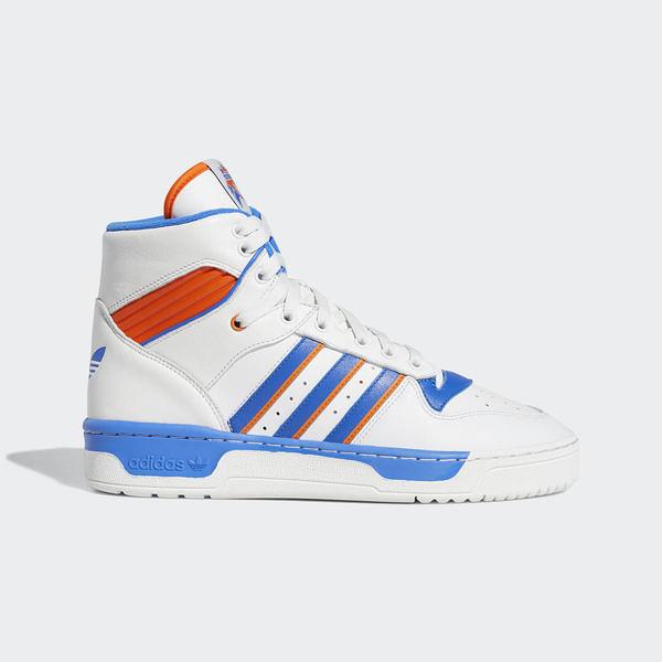 Adidas Rivalry [F34139] 男鞋 運動 休閒 籃球 經典 高筒 輕量 耐磨 包覆 穿搭 愛迪達 白藍
