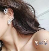 耳掛 歐美個性925銀針 設計感氣質百搭鋯石耳掛單只耳骨夾耳釘耳環女 2色【快速出貨】
