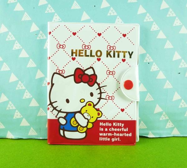 【震撼精品百貨】Hello Kitty 凱蒂貓~證件套~紅白熊【共1款】