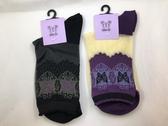 【京之物語】現貨-日本製ATSUGI與ANNA SUI古典蝴蝶半透明女性短襪(黑色/紫色)