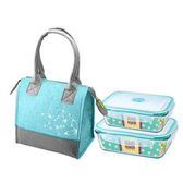 FOR U 翡綠耐熱玻璃保鮮盒提袋組 CL-0040