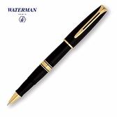 waterman查裡斯登筆系黑桿金夾鋼珠筆