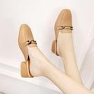 小碼31碼32包頭半拖鞋女夏新款韓版舒適百搭低跟涼拖大碼懶人拖鞋 快速出貨