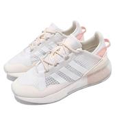 adidas 休閒鞋 ZX 2K Boost Pure W 白 粉紅 三葉草 女鞋 愛迪達 【ACS】 G55514
