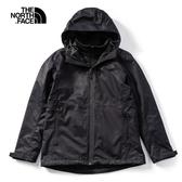 The North Face 女 三合一防水透氣保暖外套 黑 NF0A4NCZKX7【GO WILD】
