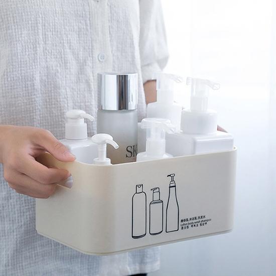 收納盒 分格收納盒 置物架 分隔收納盒 塑料盒 儲物盒 整理盒 磨砂 分隔收納盒【R015】生活家精品