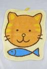 【震撼精品百貨】日本泰迪熊~造型方巾/手帕『貓&魚』