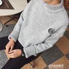 毛衣男-半高領毛衣男魚骨秋冬季情侶韓版潮針織衫加厚套頭外套打底衫 多麗絲