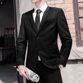 男士西服套裝三件套青少年韓版結婚正裝單西外套修身休閒小西裝 街頭潮人