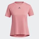 Adidas HEAT.RDY 女裝 短袖 T恤 訓練 乾爽 加長後襬 胸前小LOGO 玫瑰粉【運動世界】H20745
