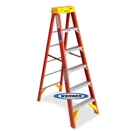 美國Werner穩耐絕緣梯-6206AS 玻璃鋼單側人字梯(梯長1.8m)    FRP梯 梯子 進口梯