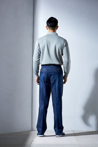 Emilio Valentino范倫鐵諾交錯線條厚棉POLO衫 (灰/綠)