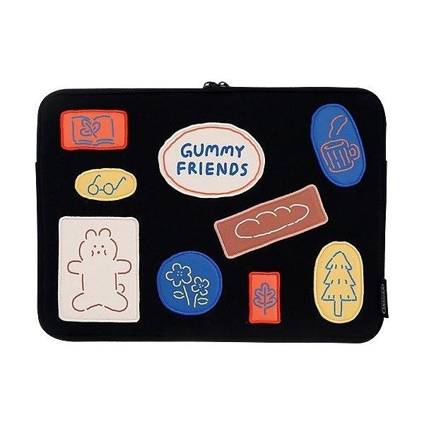 韓國 ROMANE 早午餐兄弟13吋筆電收納包(1入)Gummy Friends Brunch Brother【小三美日】※限宅配/禁空運