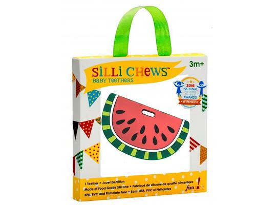 【愛吾兒】美國 SiLLi CHeWS 西瓜咬牙器  固齒器 美國設計 3個月以上適用