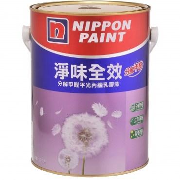 立邦淨味全效乳膠漆玫瑰白5L