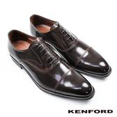 【KENFORD】橫飾U型鞋翼牛津鞋 深咖 (KB48-DBR)