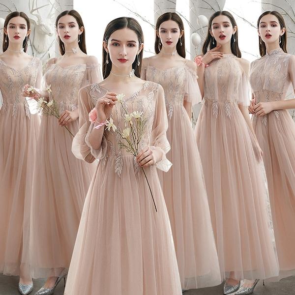 伴娘服2021新款婚禮夏季姐妹團禮服裙仙氣質女大碼胖mm小個子顯瘦 伊蘿 99免運