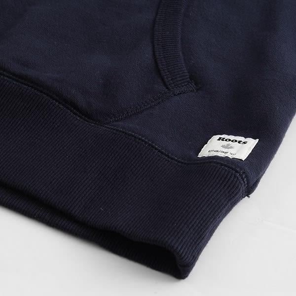 Roots - 男裝 - ROOTS 條紋字標連帽上衣 - 藍色