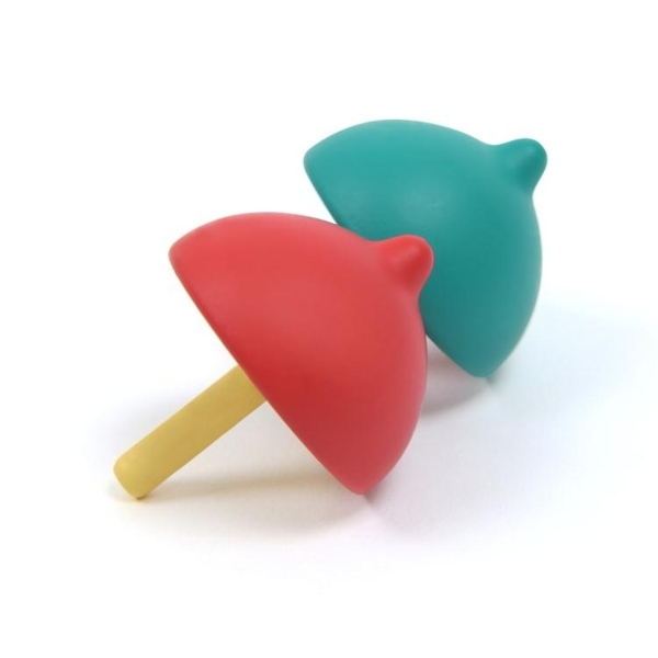 戰鬥陀螺兒童彩色旋轉陀螺手動旋轉幼兒園木質玩具小陀螺-凡屋