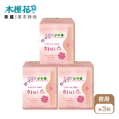 HIBIS木槿花 3D瞬潔草本衛生棉 夜用29.5cm 12片裝x3包