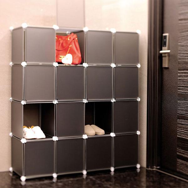 【H&R安室家】16格16門收納櫃-12吋百變收納櫃/組合櫃-HP59
