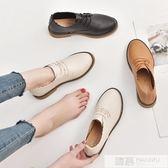 淺口小皮鞋女春季2019新款韓版百搭內增高單鞋黑色學生網紅女鞋子 韓慕精品