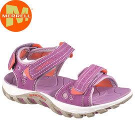 丹大戶外用品 美國【MERRELL】Waterpro Flow Kids兒童抗菌除臭休閒涼鞋/防腳臭拖鞋 85590 紫色