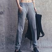 運動褲(長褲)-高腰透氣寬鬆休閒女褲子2色73ul21[時尚巴黎]