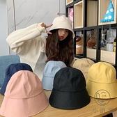 帽子女夏水桶漁夫帽遮臉韓版遮太陽帽【小酒窩服飾】