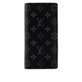 【LV】Monogram Brazza 側拉鍊對開長夾(黑) M61697 LV21000356