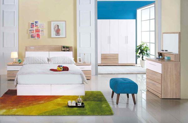 【森可家居】潔絲床頭櫃 7JX25-3 木紋質感 無印北歐鄉村風 MIT
