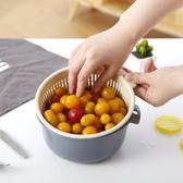 塑膠瀝水籃子漏盆淘米神器菜藍淘菜盆家用廚房洗水果盤  全館免運