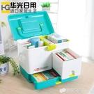 日本進口分隔藥箱家用急救箱多功能手提藥品收納箱戶外車載箱WD 檸檬衣舍