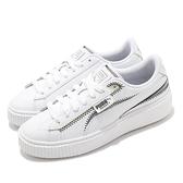 Puma 休閒鞋 Platform Mixed FS Wns 白 厚底 小白鞋 鬆糕鞋 女鞋【ACS】 37179301